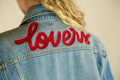 NWT - Lovers + Friends 'LOVERS' Denim Jacket - Size M
