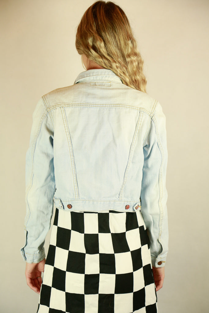 Acne Crop Denim Jacket - Size XS