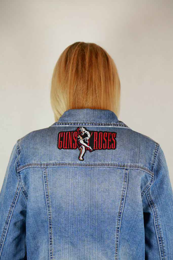 "New Look London Denim ""Guns N Roses"" Denim Jacket - Size 12"
