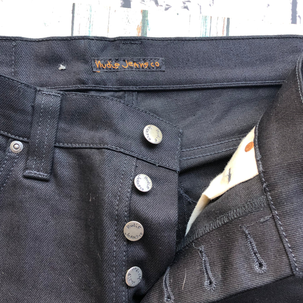 Nudie Jeans Co. Black 'Grim Tim' Organic Jeans - Size 32/32