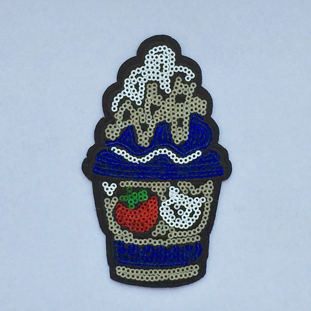 Snowcone - Sequin & Embroidered Patch