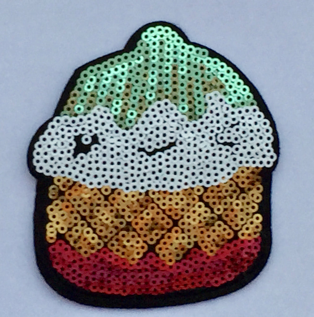 Cupcake - Sequin & Embroidered Patch