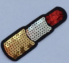 Lipstick- Embroidered Sequin Patch