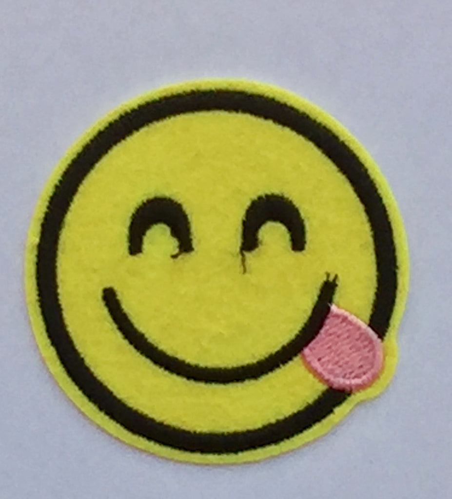 Yummy Emoticon- Embroidered Cloth Patch