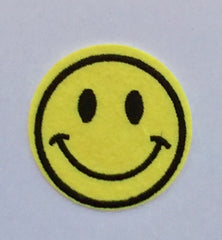 Smile Emoticon- Embroidered Cloth Patch