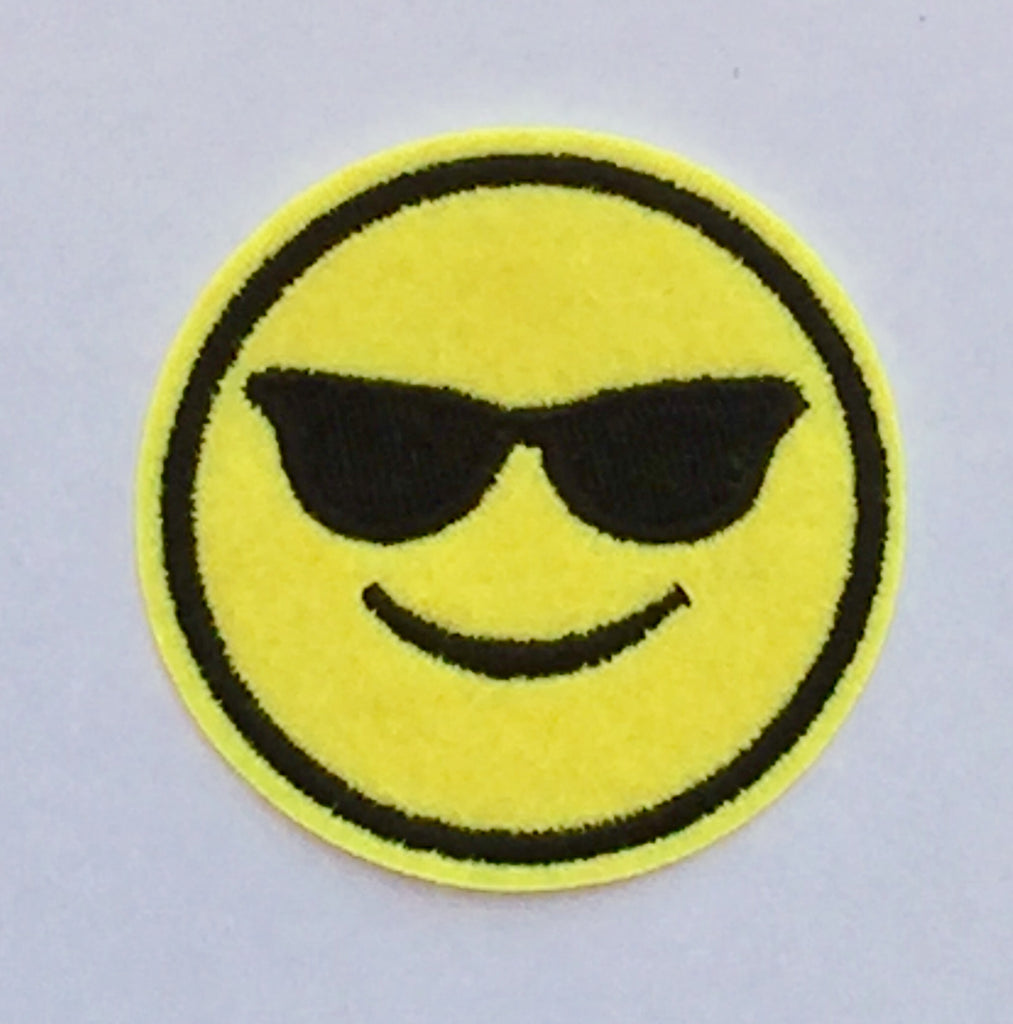 Cool Emoticon- Embroidered Cloth Patch-Jean Pool