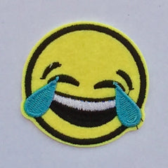 LOL Emoticon- Embroidered Cloth Patch