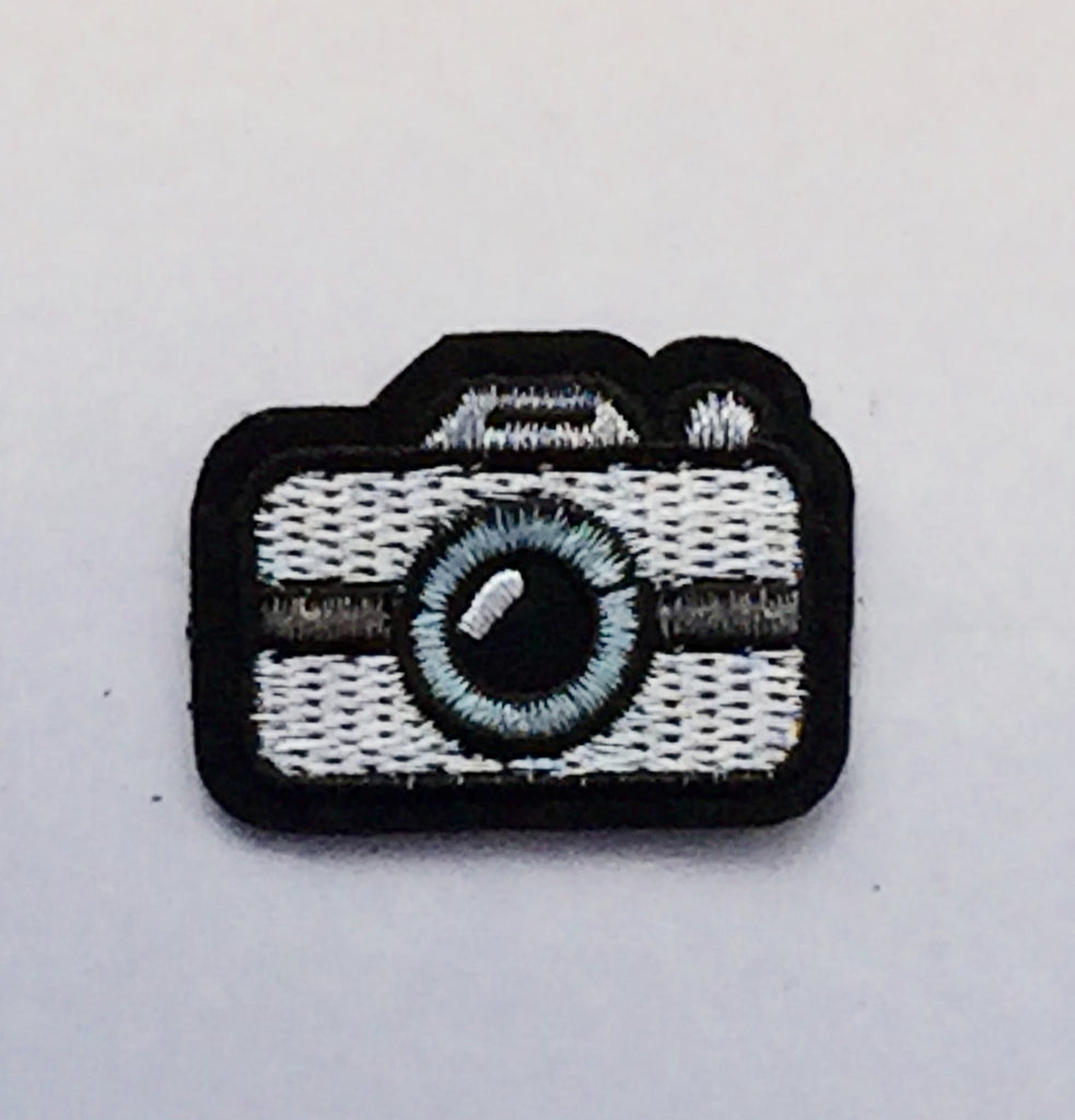 Mini Camera- Embroidered Cloth Patch
