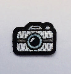 Mini Camera- Embroidered Cloth Patch-Jean Pool-Jean Pool