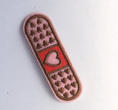 Heart Band Aid- Embroidered Cloth Patch