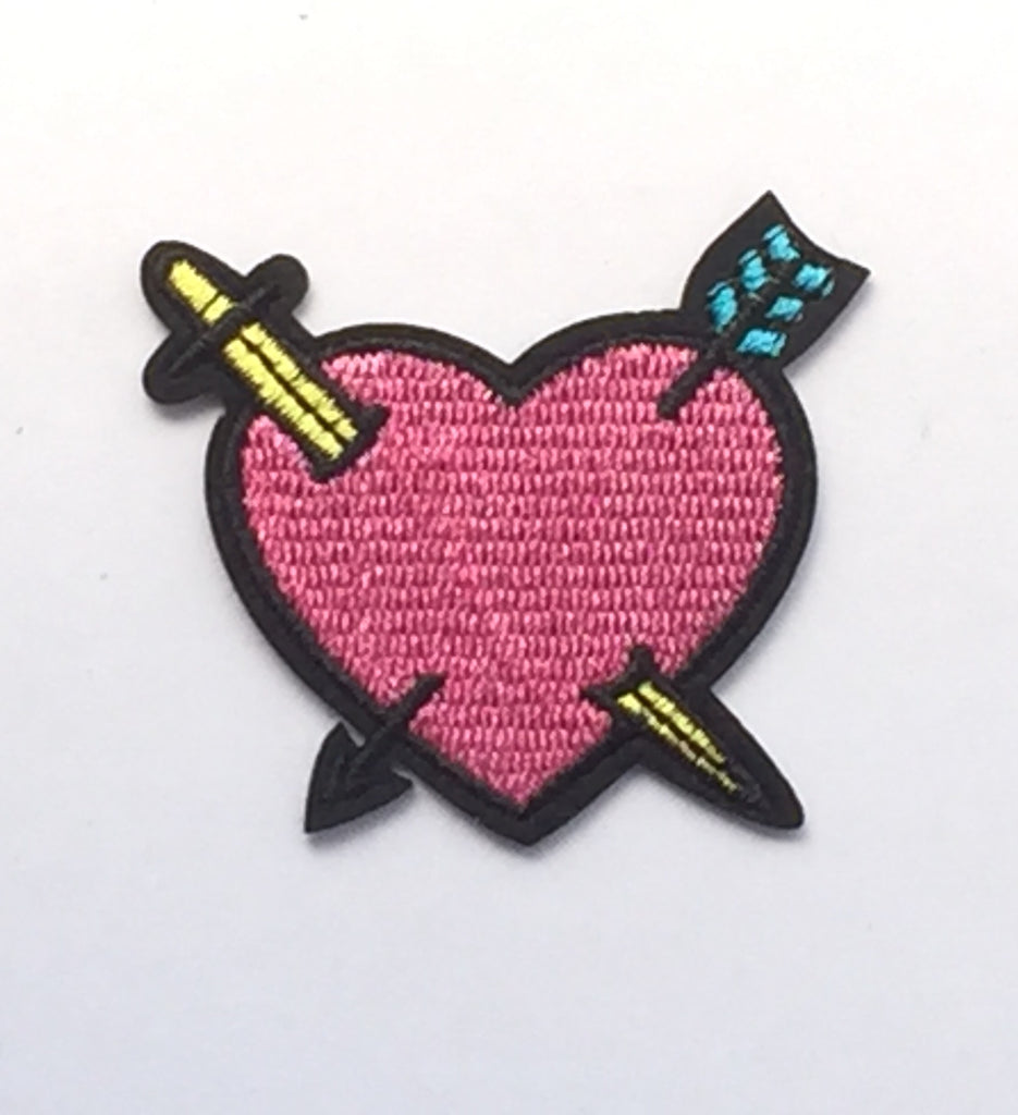 Heart & Arrow Embroidered Cloth Patch-Jean Pool