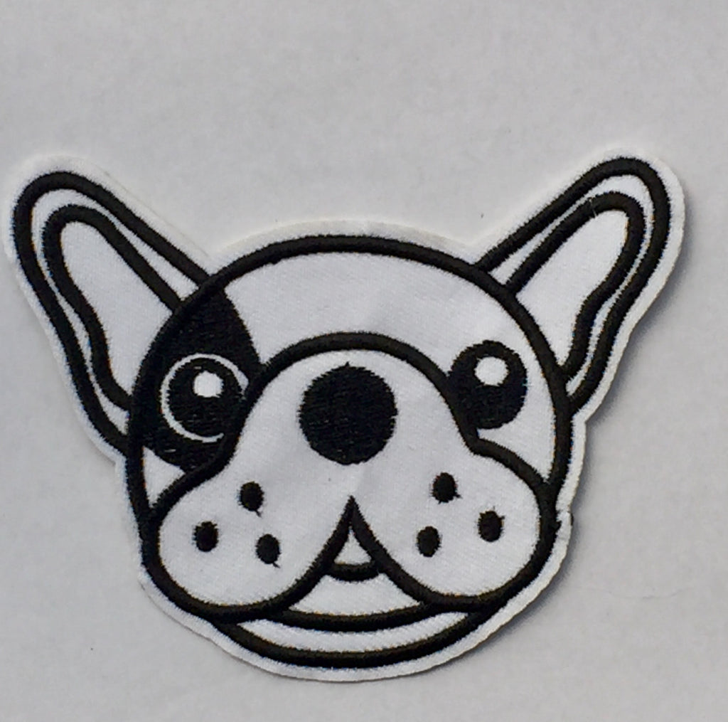 Black & White Frenchie - Embroidered Patch