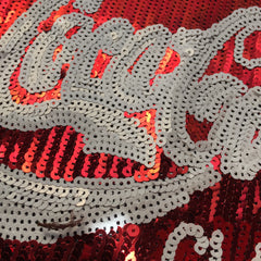 Large 'Coca Cola' Jacket Back Panel- Sequinned Patch