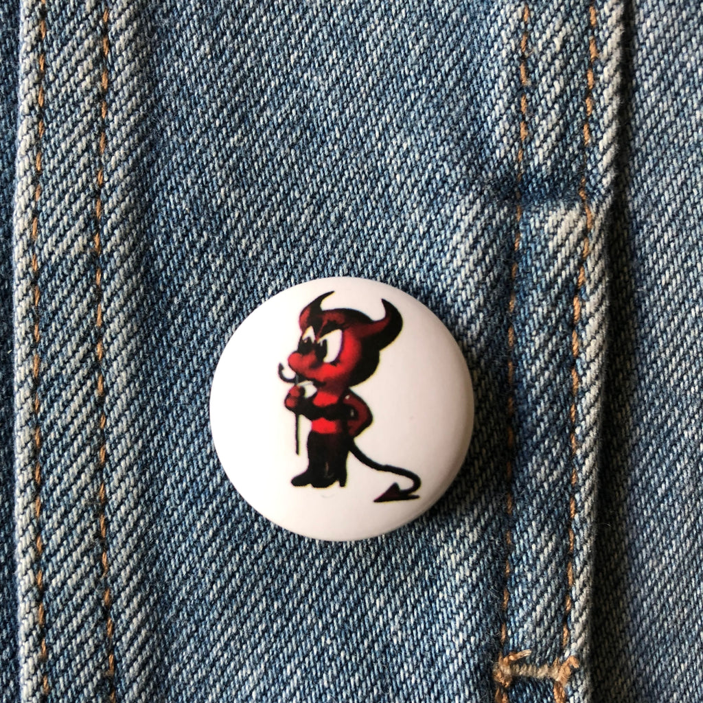 Little Devil Cartoon - Button Badge