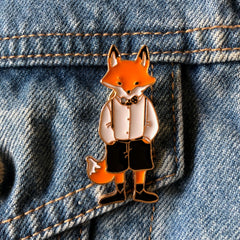 Mr Foxy -Enamel Pin
