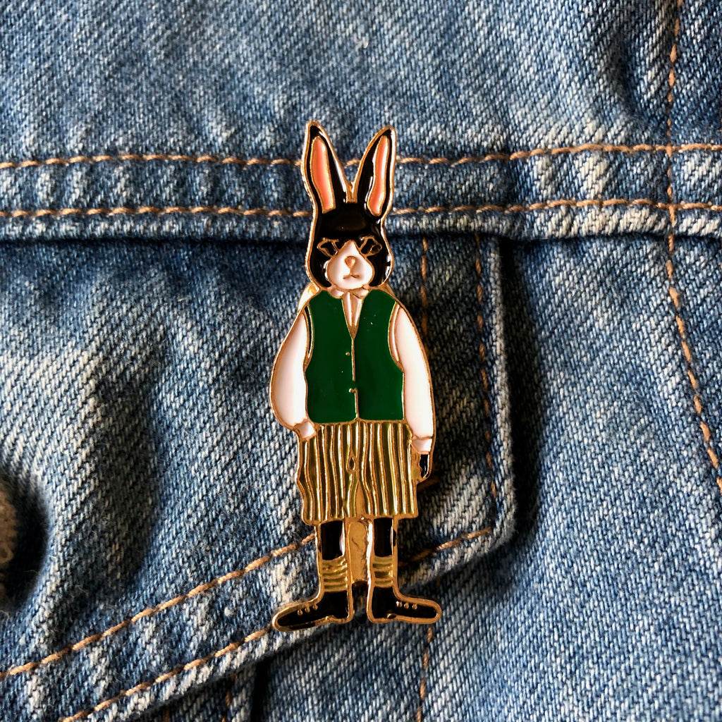 Mr Rabbit -Enamel Pin