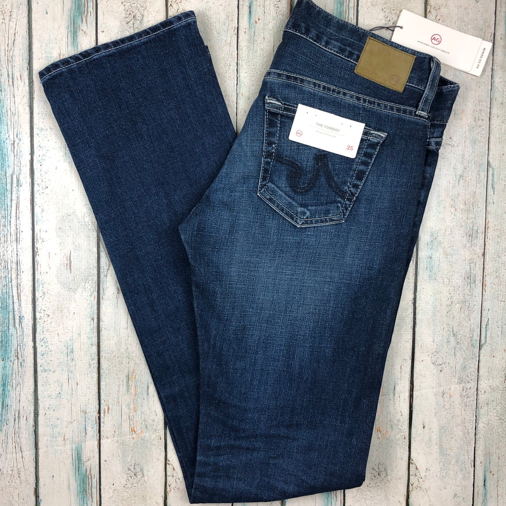 NWT- Adriano Goldschmied 'The Tomboy' Straight Leg Jeans RRP $339- Size 25-Jean Pool