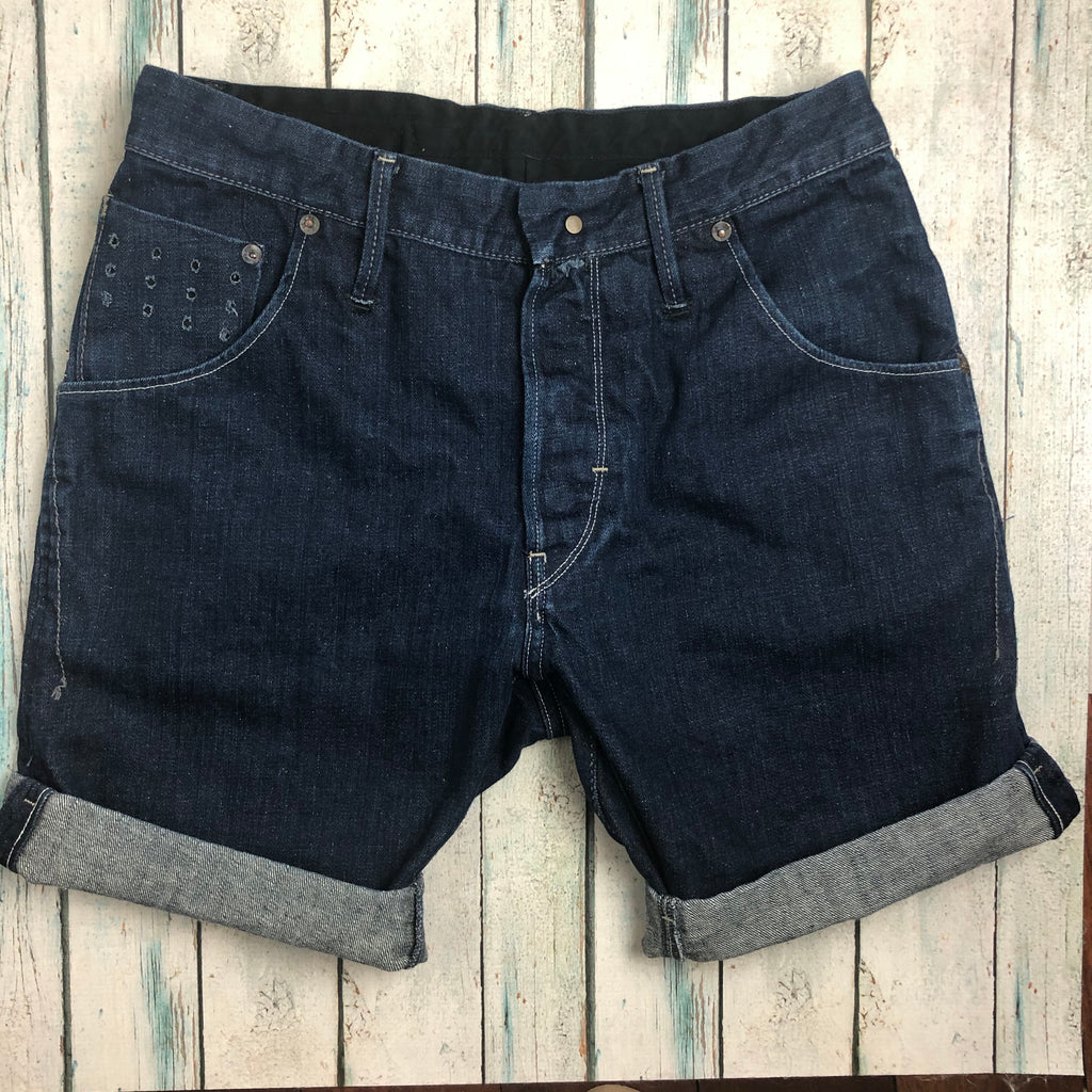 G Star Raw Stretch Denim  'Arc Loose Tapered' Cut Offs - Size 32
