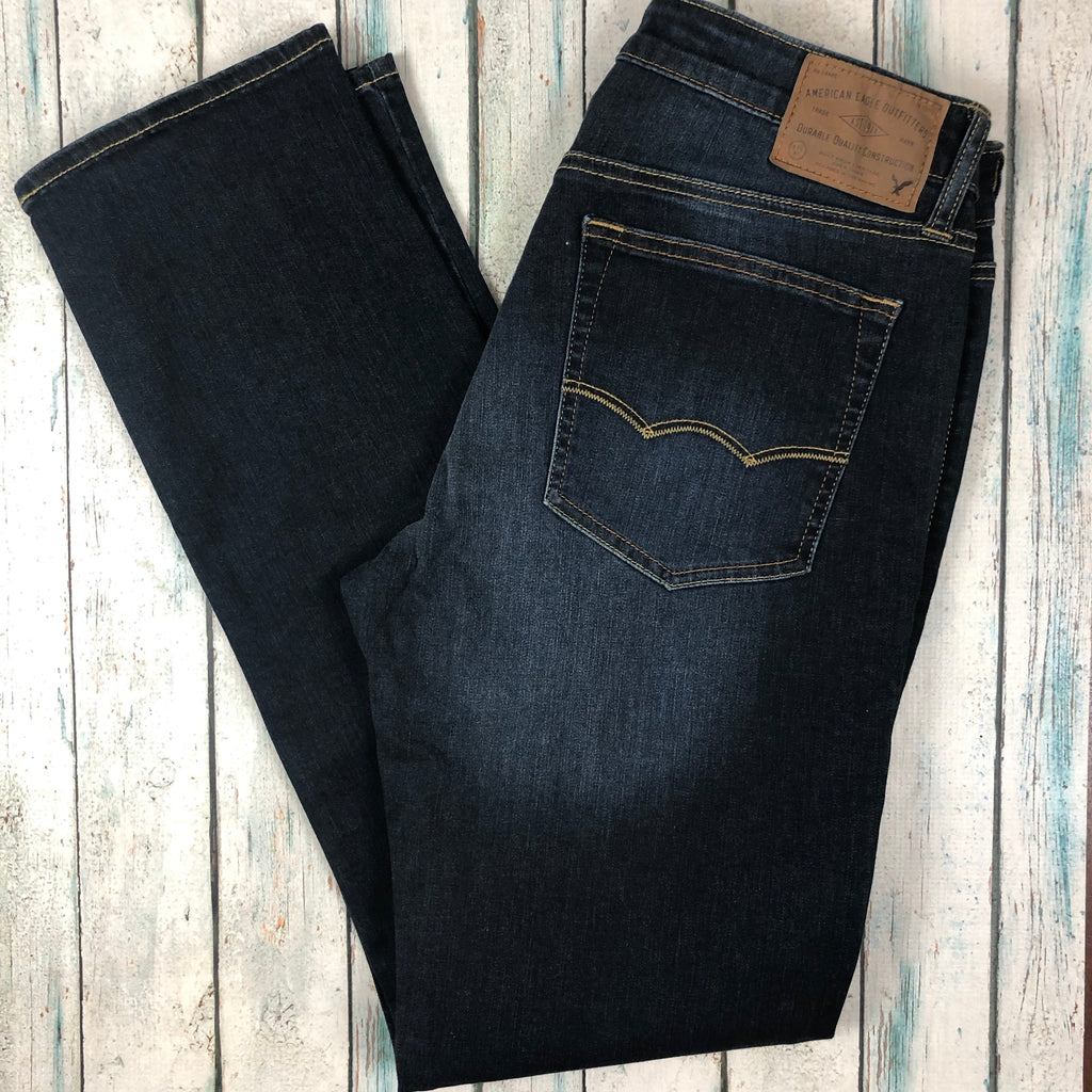 NEW - American Eagle 'Extreme Flex' Stretch Straight Leg Jeans - Size 32/34