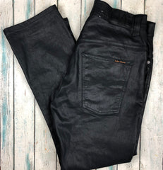 Nudie Jeans Co. 'Thin Finn' Black 2 Black Jeans - Size 34