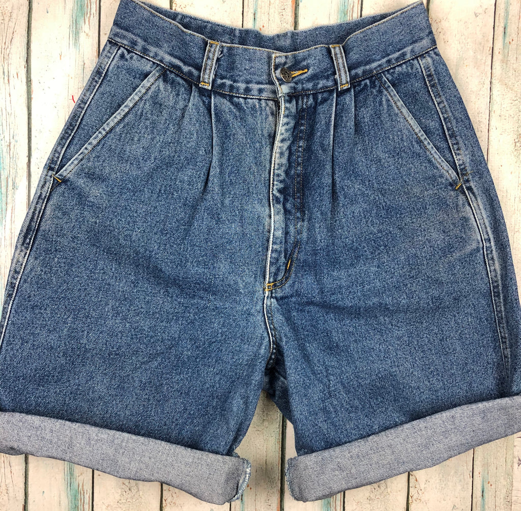 Genuine 1980's Corfu Vintage Denim Shorts  - Size 13