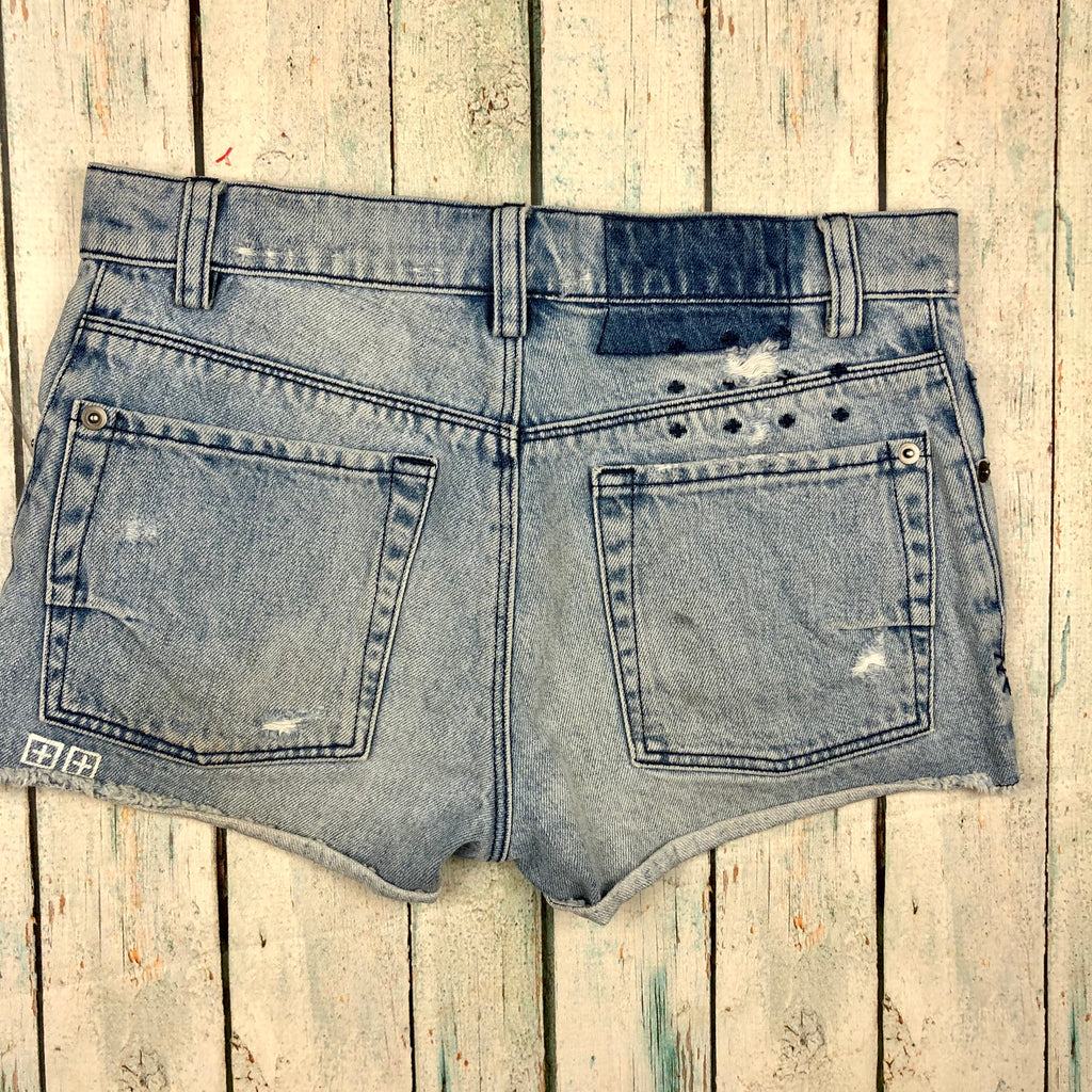 Tsubi  'Alberceque  Cut Off' Distressed Denim Shorts  - Size 24