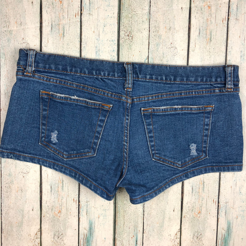 Hollister Stretch Denim Shorts  - Size 8