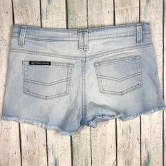 Betttina Liano Fray Hem Stretch Denim Shorts  - Size 10