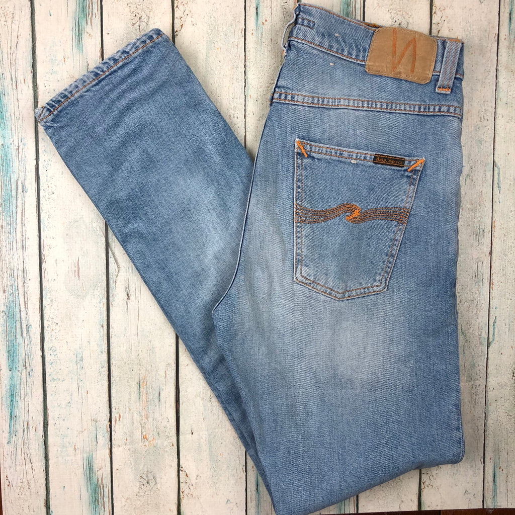 Nudie 'Lean Dean' Light Joshua Worn Wash Jeans- Size 30/32