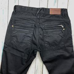 Politix 'GARD' Slim Tapered Black Denim Jeans -Size 32