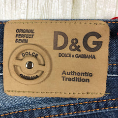 NWT- Dolce & Gabbana D&G Painted Kermit the Frog Jeans - Size 31-Dolce & Gabbana-Jean Pool
