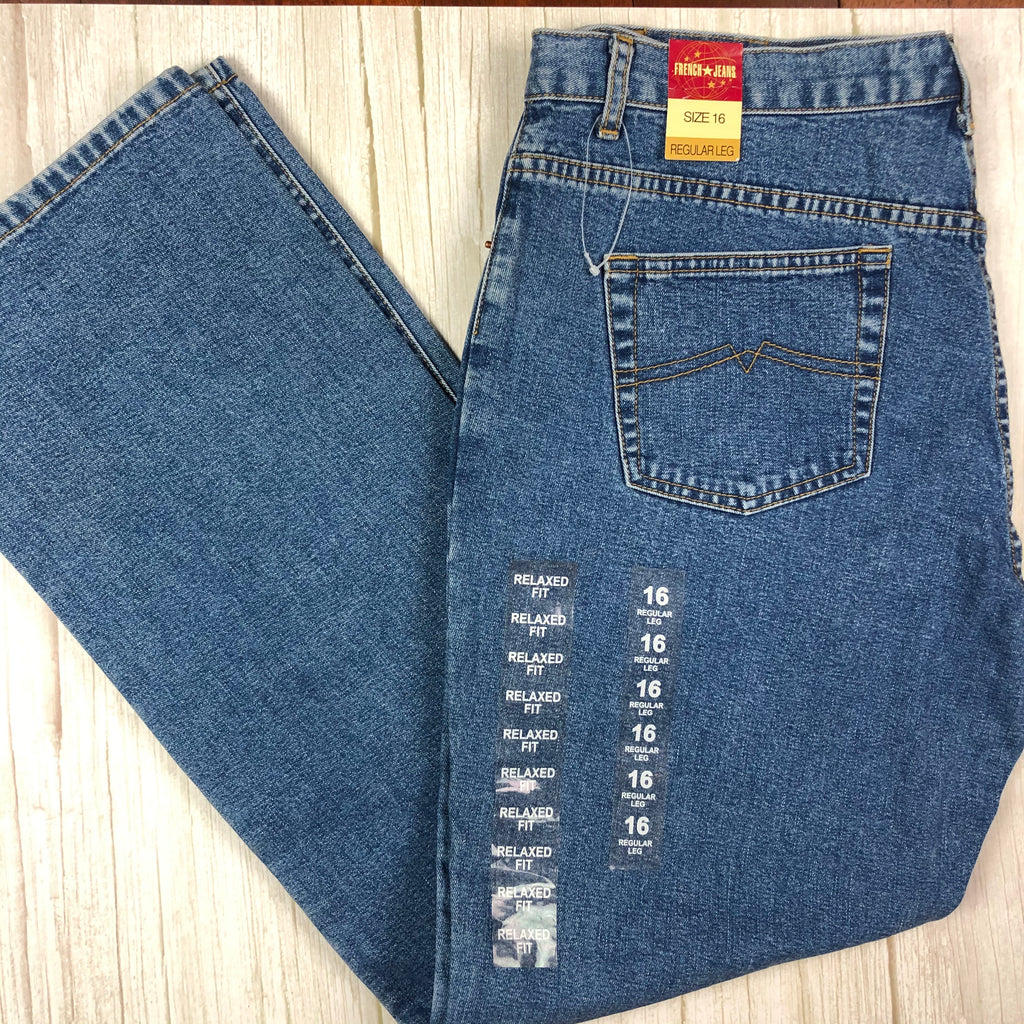 NWT- Vintage 90's French Star Regular Jeans -Size 16