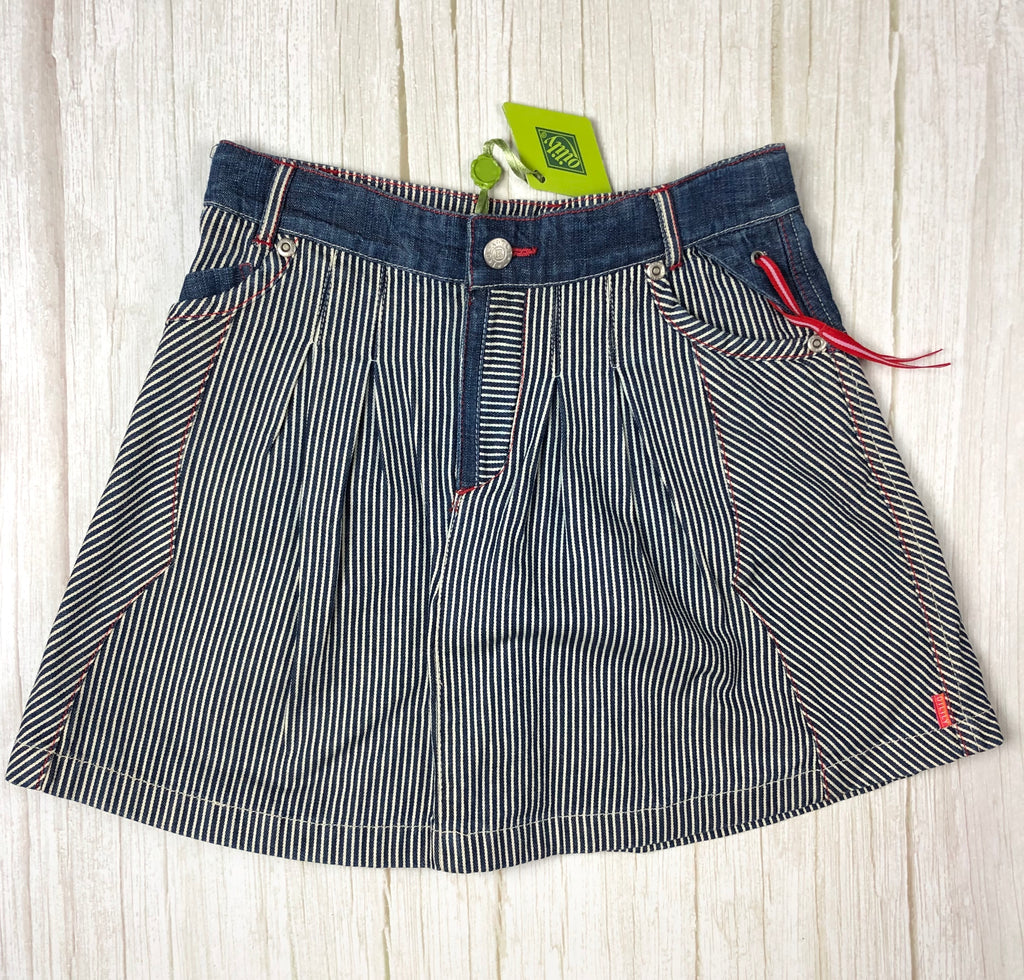 NWT - Oiliy Girls Denim A line 'Pirates' Skirt - Size 6