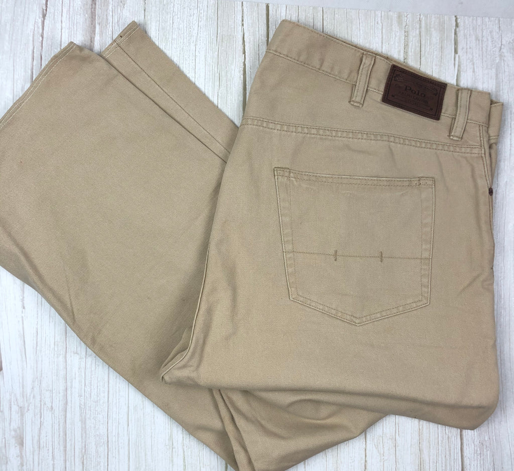 Polo by Ralph Lauren Men's Classic Beige Denim Jeans - Size 44/32