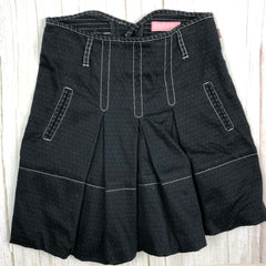 Escada Girls Pleated Black Denim Skirt - Size 6/7-Escada-Jean Pool