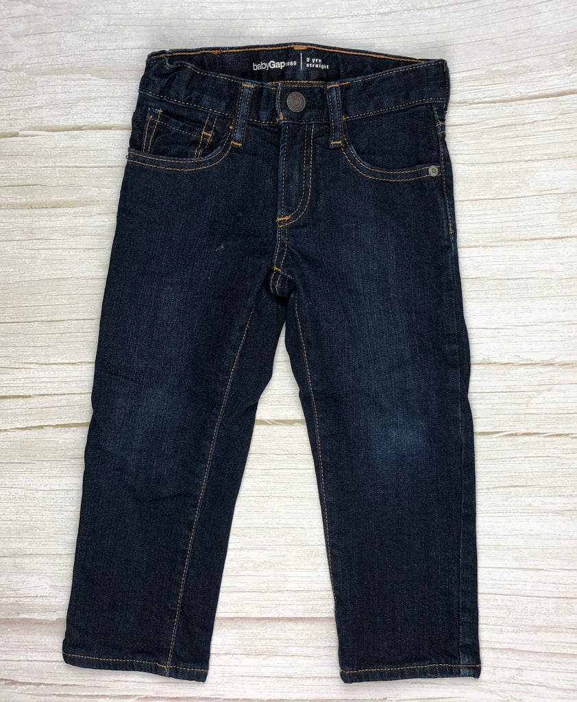 Gap straight Leg Dark Wash Boys Jeans - Size 3