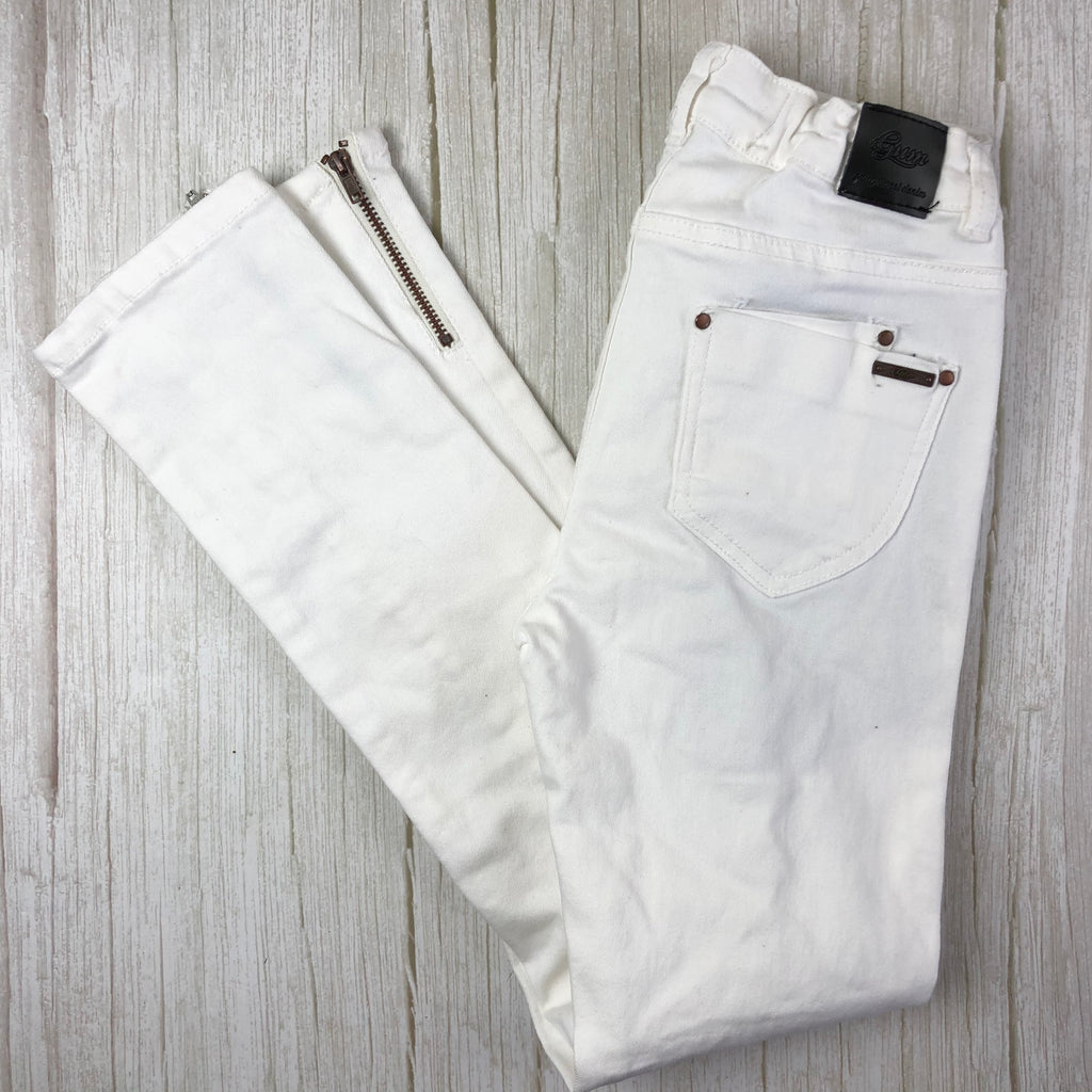 Gum Girls White Stretch Skinny Jeans - Size 12
