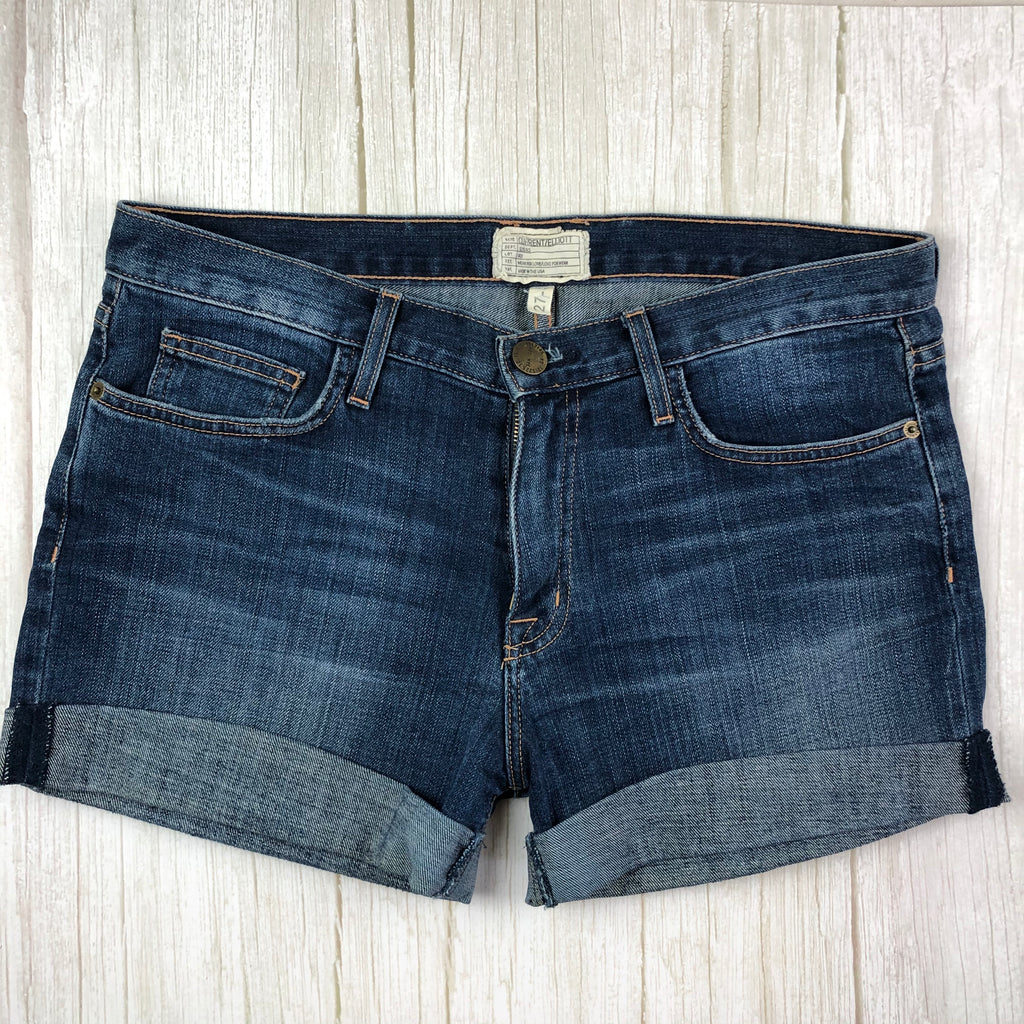 Current/Elliot 'The Rolled Short' Boyfriend Fit Denim Shorts- Size 27-Jean Pool
