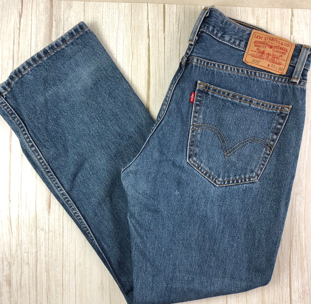 Vintage Wash  Mens Levis 505 Straight Fit Jeans -Size 33/30