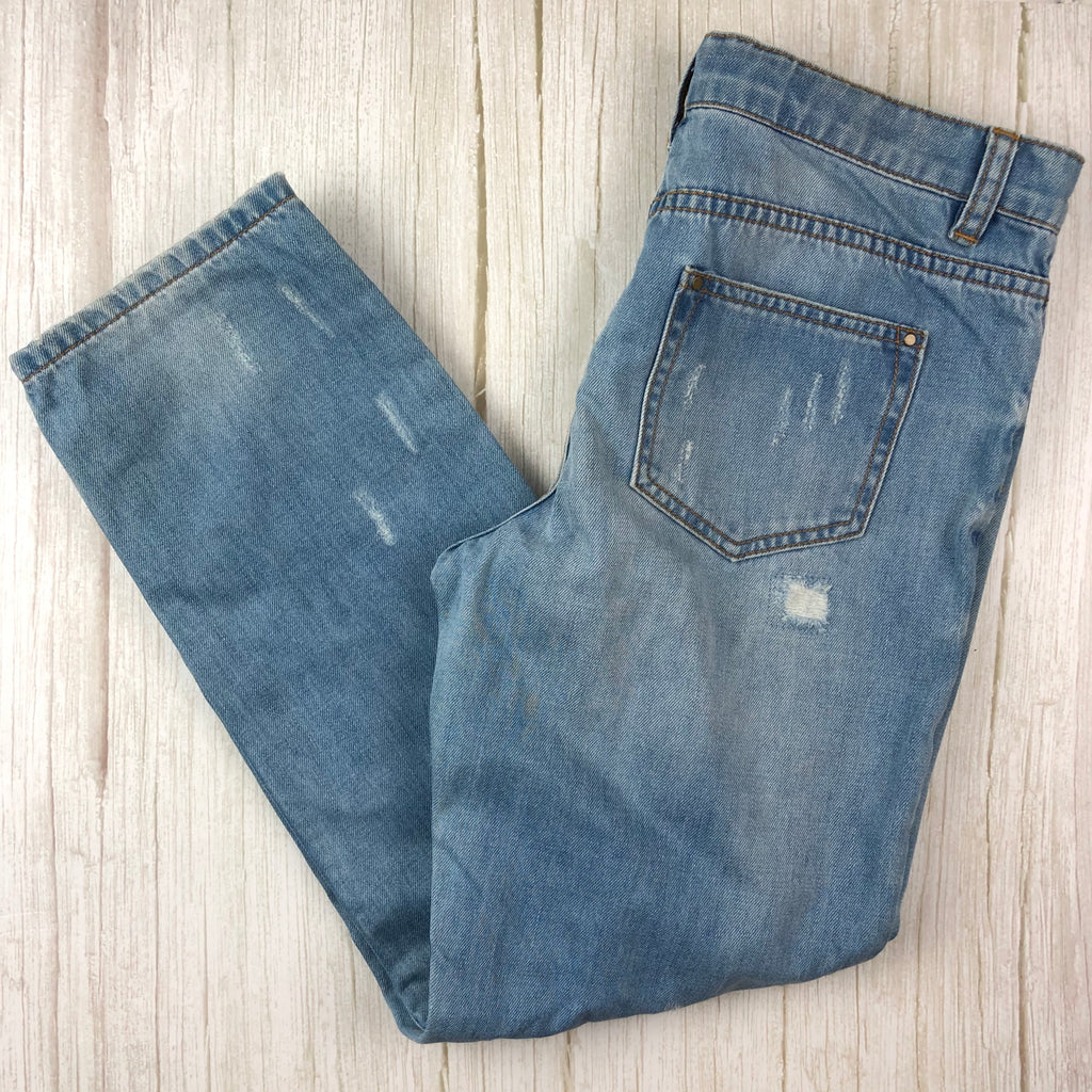 Witchery Girl Distressed Boyfriend Jeans- Size 14-Jean Pool