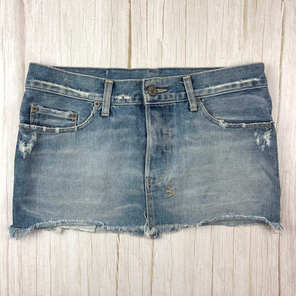 Tsubi Australia ( Ksubi) Distressed Denim Skirt  - Size 10