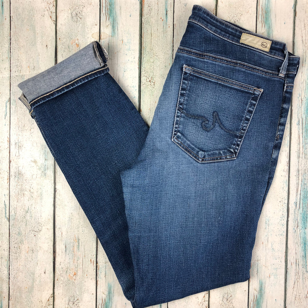 Adriano Goldschmied 'the Prima' Vintage Wash Mid Rise Cigarette Jeans- Size 31-Jean Pool