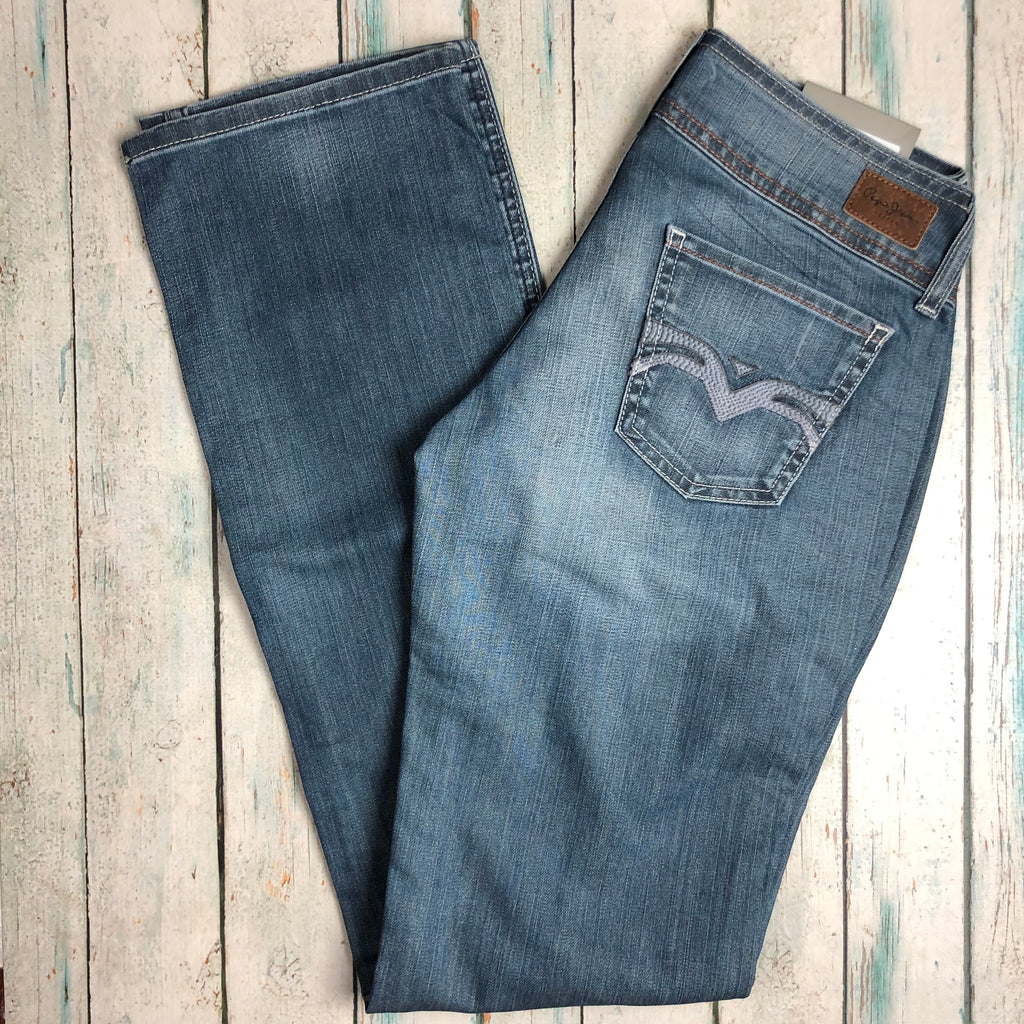 NWT -Pepe 'Victoria' Ladies Low Rise Straight Jeans- Size 29/32