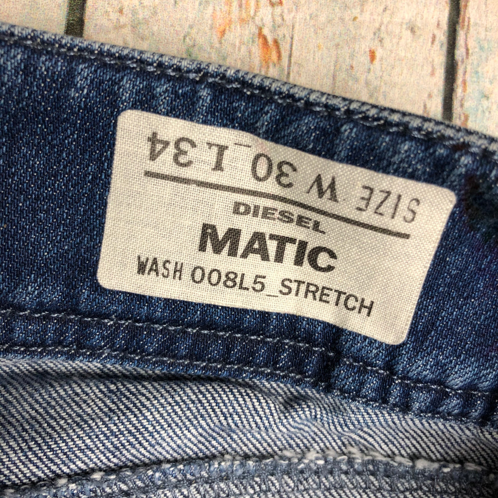 NWT - Diesel 'Matic'  Straight Leg Stretch Jeans Size - 30/34