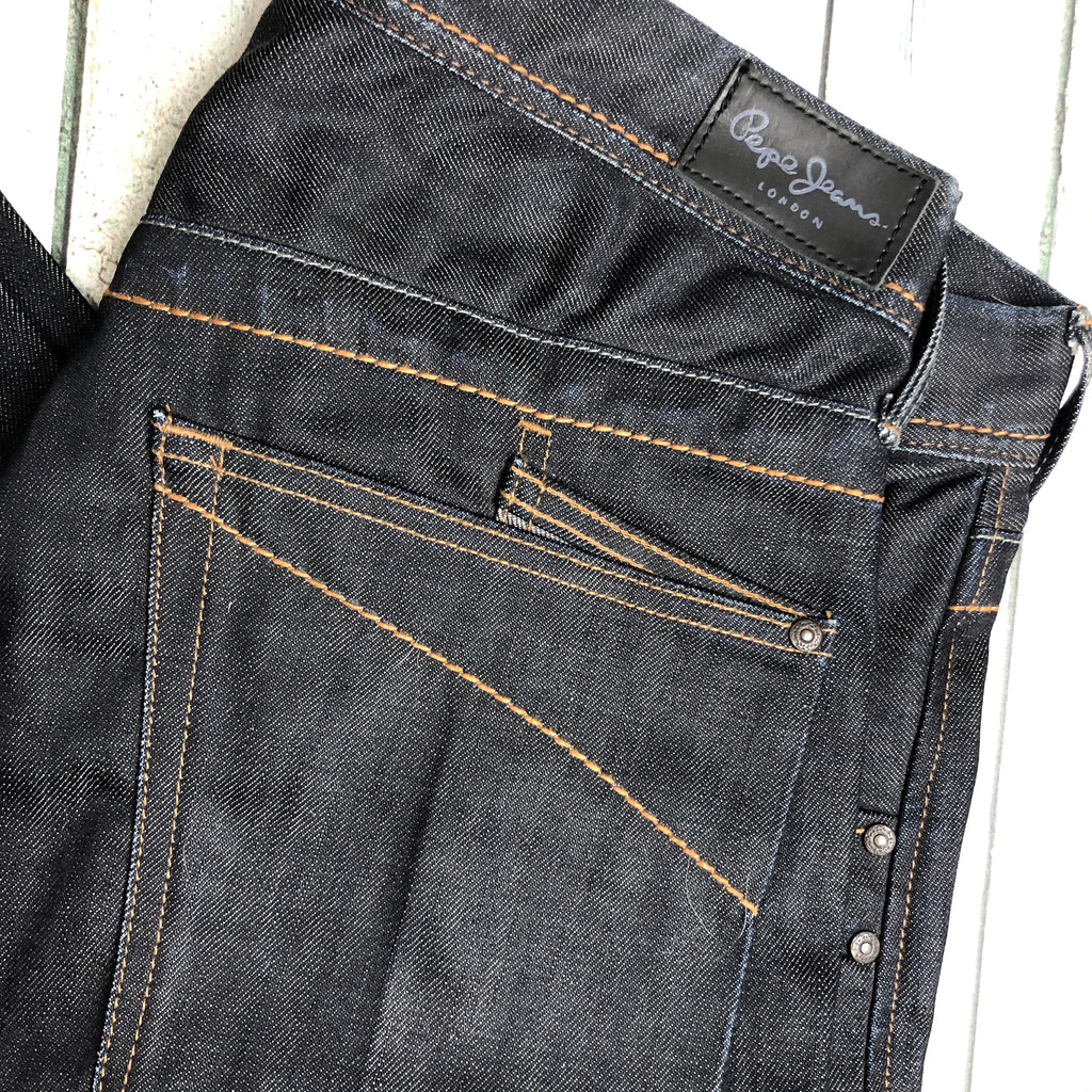 NWT- Pepe London- Mens 'Jailbird' Easy Fit Jeans- Size 34/34