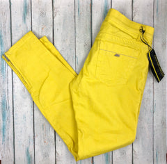 NWT- Miss Sixty Low Rise Skinny Yellow Jeans RRP $299 - Size 30-Miss Sixty-Jean Pool