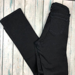 J Brand Black Stretch Cigarette Leg Jeans- Size 27
