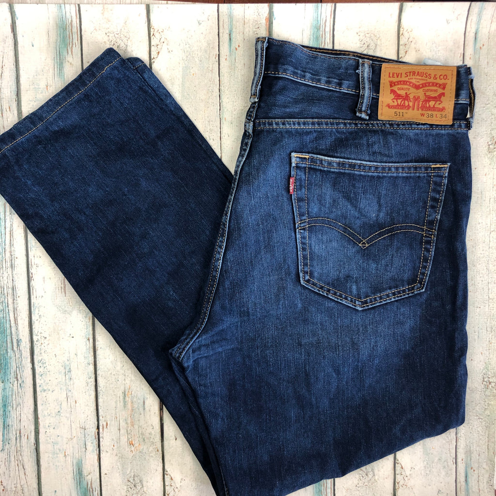 Levis Slim Straight 511 Men's Denim Jeans - Size 38S