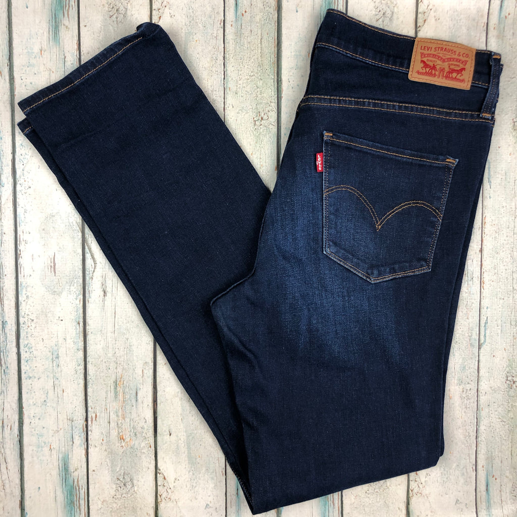 Ladies Levis 314 Shaping Straight Jeans -Size 30 (12AU)-Levis-Jean Pool