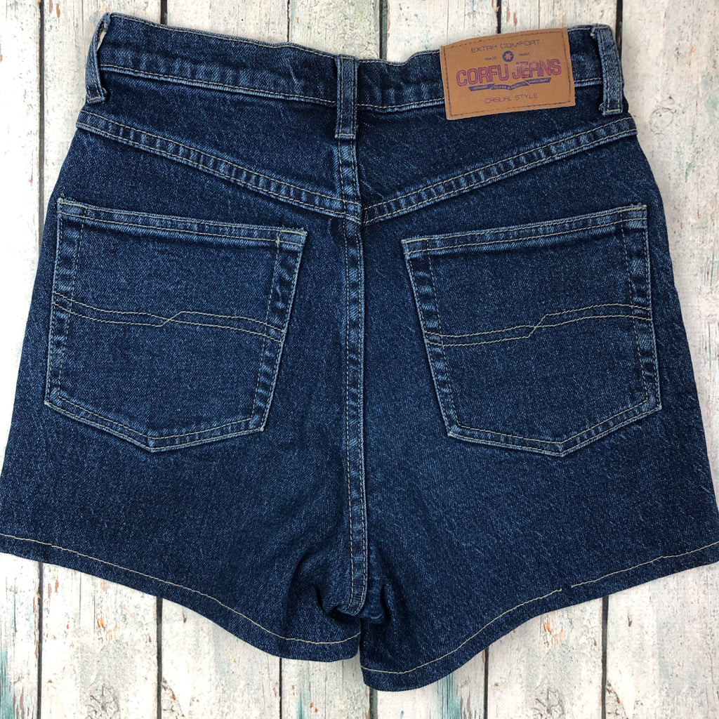 Vintage Corfu 90's Stretch High Waisted Shorts- Size 8